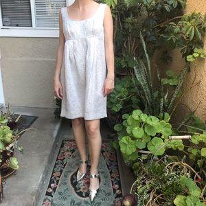 New silver metallic Michael Kors cotton dress
